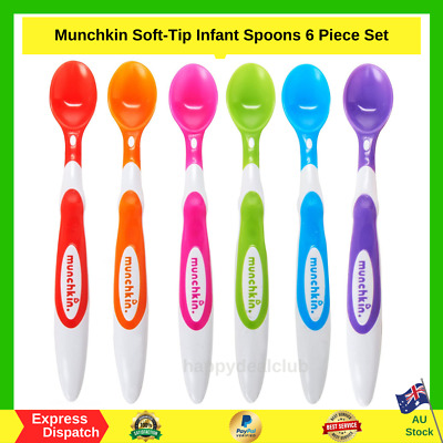 Munchkin Soft-Tip Infant Spoons 6 Piece Set - BRAND NEW - FAST FREE SHIPPING AU