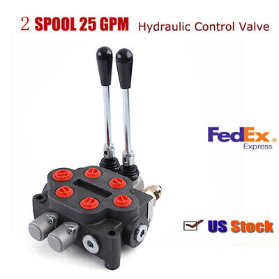 2 spool 25 gpm hydraulic directional control valve double acting cylinder spool