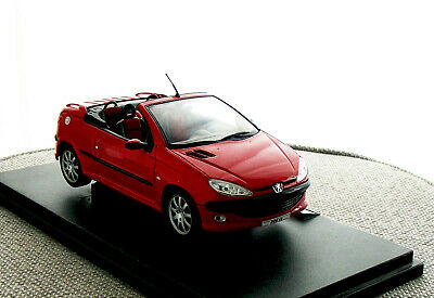 BLITZ VERSAND Peugeot 206 Tuning rot met // red 1:24 Welly Modell Auto NEU /& OVP