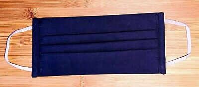 Navy Blue Handmade Reusable Washable Cotton Face Cover New