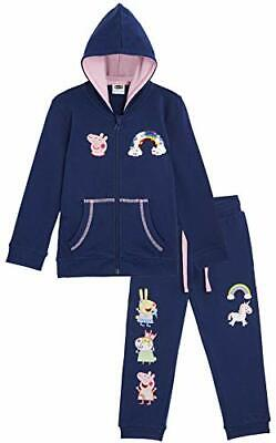 Peppa Pig Clothes Tracksuit Girls, Long Sleeve Hooded Top & Bottom Loungewear