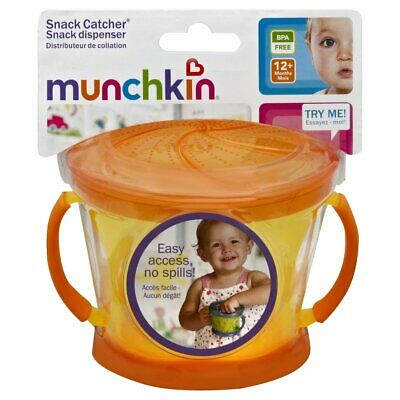 Munchkin Snack Catcher, 9 Ounce, 1-Count Orange/Yellow 12+ months