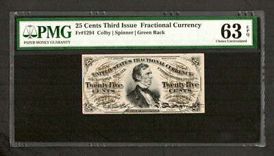FR 1294  50 Cent 3rd Issue Fractional Currency - PMG 63 EPQ Choice Unc (C24)