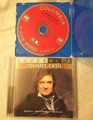 Two JOHNNY CASH CD's - Super Hits & The Essential Johnny Cash Disc One