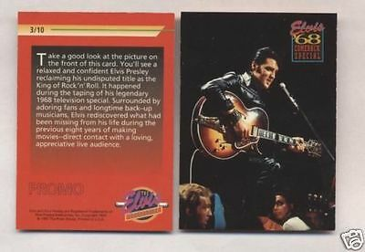 "Elvis Presley 1992 Promo Card # 3/10 "" Very Rare "" The River Group"