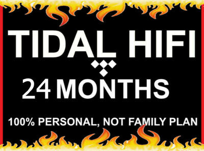 24 Month Tidal Hi-Fi   Masters Quality   Instant Delivery