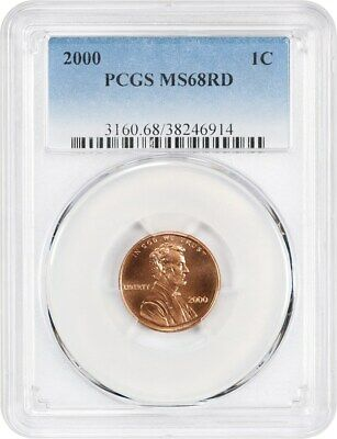 2000 1c PCGS MS68 RD - Lincoln Memorial Small Cents (1959-2008)