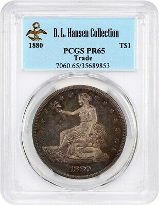 1880 Trade$ PCGS PR 65 ex: D.L. Hansen - US Trade Dollar