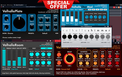 Valhalla Dsp Bundle ✅ Windows VST-AAX ✅ Mac VST-AU-RTAS ✅ INSTANT DELIVERY 30 ✅