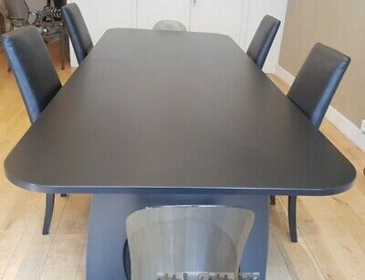 Luxury Boardroom Table Black, Brand New