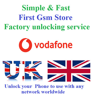 Vodafone UK Unlocking Service Unlock code Samsung Huawei Lumia Google HTC