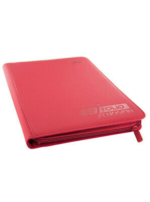 ULTIMATE GUARD RED 4 POCKET XENOSKIN ZIPFOLIO Card Storage BINDER Page Album