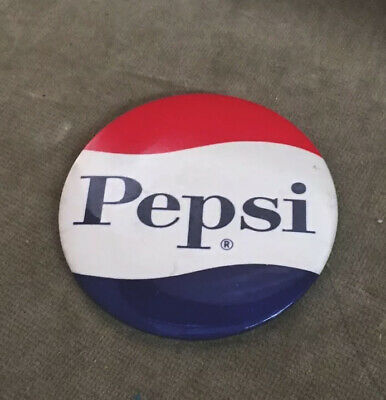 Vintage Pepsi Cola Pin back Button Cardboard Backed 3.5""