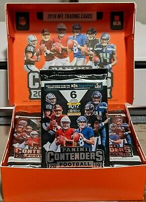 *RARE AUTO HOT PACK* 2019 Panini Contenders NFL Football SEALED 6 Card Pack