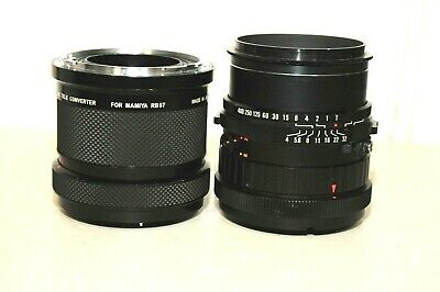 Mamiya Sekor C 150mm f/4 Soft Focus SF Lens for RB67 w/Vivitar 2X MC Tele Conver