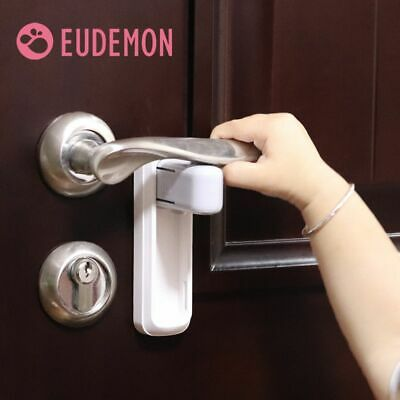Door Lever Lock Baby Proofing Handle Childproofing Knob Install 3M VHB Adhesive