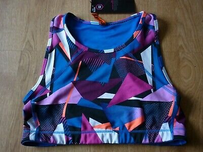 BNWT M&S  Active Sport Girls Crop/ Cropped Sports Top 13-14y  164cm   Multi