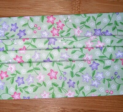 Spring Flowers Handmade Reusable Washable Cotton Face Cover New