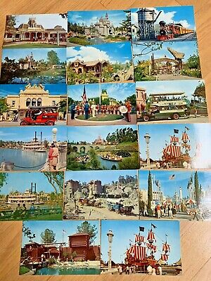 16 Vintage DISNEYLAND POSTCARDS New and Unused