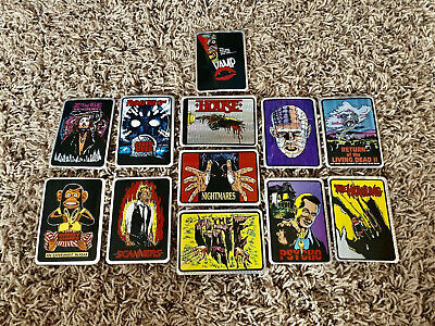 Rare Vintage Horror Prism Sticker Lot 12 Stickers PERFECT BUY FOR NEW COLLECTOR