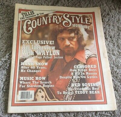1976 Country Style Monthly December Issue #7 Waylon Jennings RARE