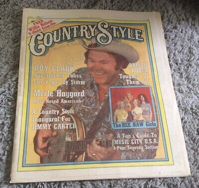 1977Country Style Magazine January Issue #9 Roy Clark Willie Nelson Iron On RARE