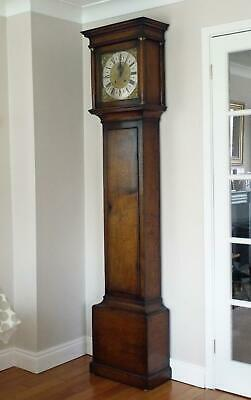 Titchmarsh and Goodwin Vintage Oak Longcase Grandfather Clock RL.22255.