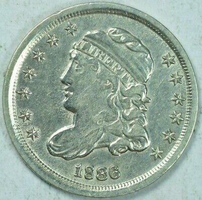 1836 H10C Capped Bust Half Dime F/VF Details Fine/Very Fine