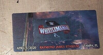 WWE Wrestlemania 36 Commemorative 3-D Ticket Stub for Cancelled 4/5/2020 Show