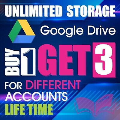 3 UNLIMITED GOOGLE Team DRIVE FOR YOUR EXISTING ACC Buy 1 Get 3 Drive very fast!