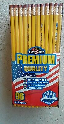 (96 count) Cra-Z-Art Premium Quality #2 HB Pencils Brand New, Made in USA