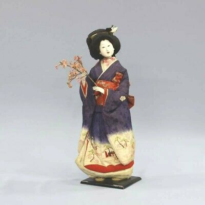 Japanese Antique Beautiful Kimono Lady doll 42cm made of Maruhei Meiji Era Rare