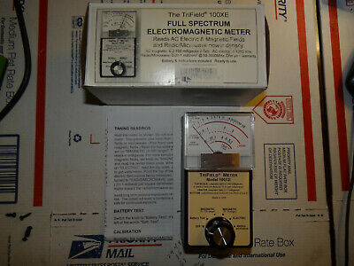 Trifield EMF Meter 100XE Analog Electric Magnetic Microwave Radio