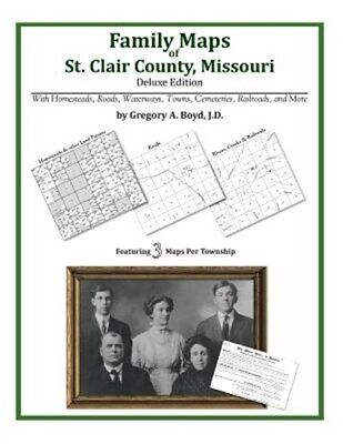 Family Maps of St. Clair County, Missouri, Brand New, Free shipping in the US