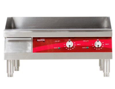 """24"""" Griddle Comal Electric Stainless Steel Commercial Countertop Flat Top 240V"""