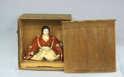 Japanese Antique Young Warrior Doll Waka Musha Made of Maruhei Meiji Era Kyoto