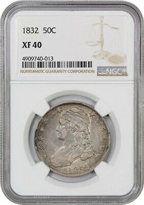 1832 50c NGC XF40 (Small Letters) Bust Half Dollar
