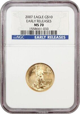 2007 Gold Eagle $10 NGC MS70 (Early Releases) - American Gold Eagle AGE