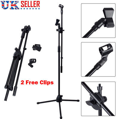 High Quality Professional Boom Microphone Mic Stand Holder Adjustable Free Clips