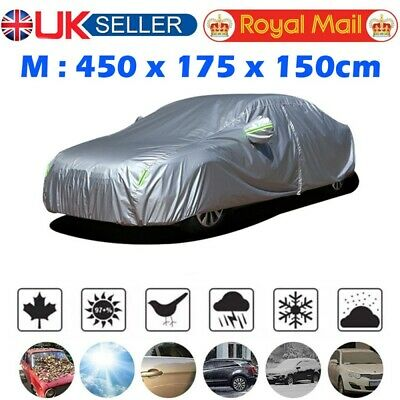 Universal Full Car Cover Outdoor Waterproof Sun Rain Snow Dust Protection Size M