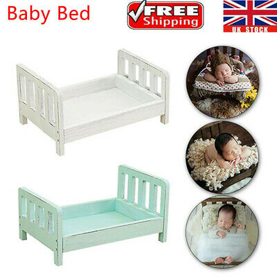 Lovely Newborn Wood Bed Baby Photo Photography Prop Shoot Gift Infant Posing UK