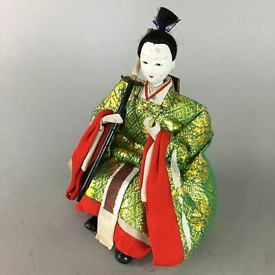 Japanese Hina Doll Guard Samurai Vtg Girls Day Decor Kimono Man ID249