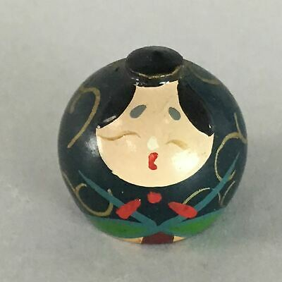 Japanese Kokeshi Doll Vtg Wood Lacquered Figurine Hina Doll Emperor KF207