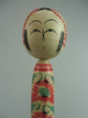 Japanese Wooden Kimono Girl Kokeshi Doll Hand-painted Signed Vtg Ningyo TK18