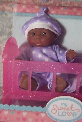 "NEW Berenguer AA Doll Lots To Love Babies 5"" Mini Nursery PlaySet IN CRIB HTF"
