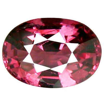 1.44 CT Excellent Coupe Ovale (8 X 6 MM ) Tanzanie Rose Malaya Gemme Grenat