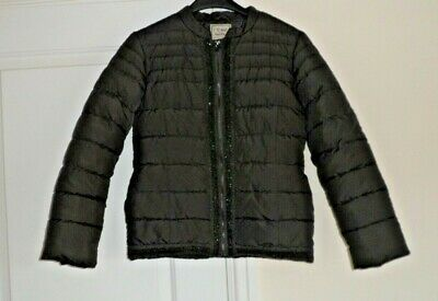 next padded quilted jacket aged 12 - brown - good condition