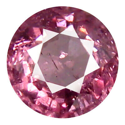 0.66 CT AAA + Spectaculaire Forme Ronde (5 X 5 MM ) Rose Malaya Gemme Grenat