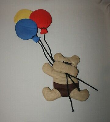 Wooltex Vintage 1984 Bear and Balloons Padded Fabric Nursery Wallhanging Decor