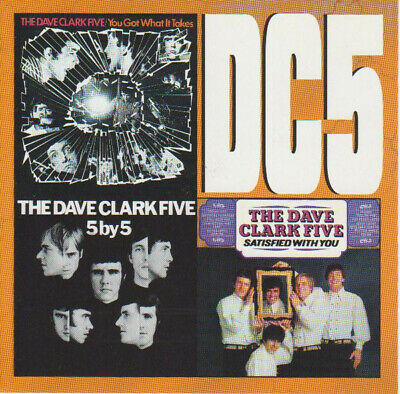 DAVE CLARK FIVE Satisfied With You / 5 By 5 / You  CD 3-on-1 MINT Import RARE
